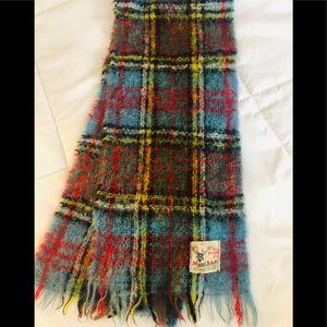 Vintage mohair Scotland scarf plaid